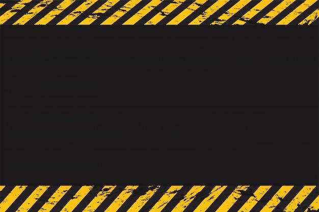 Leere hintergrundwarnung mit polizeilinie. Premium Vektoren
