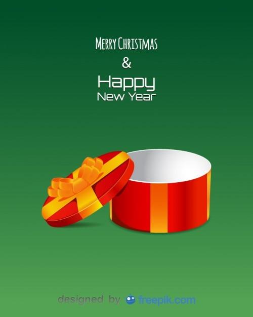 Leere Kreis Geschenkbox mit Buchstaben Frohe Weihnachten und Happy ...