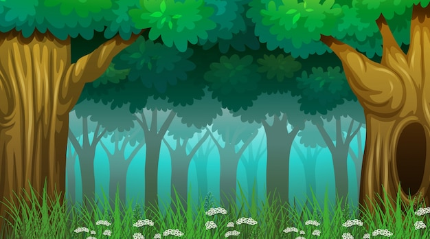 Leere naturlandschaft Kostenlosen Vektoren