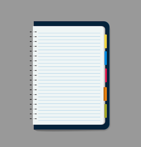 Leere notebook-vektor-illustration Premium Vektoren