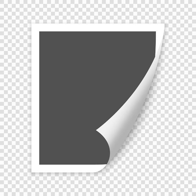 Leere papierseite gekräuselte ecke mit schatten. vektorschablonenabbildung für ihre auslegung Premium Vektoren