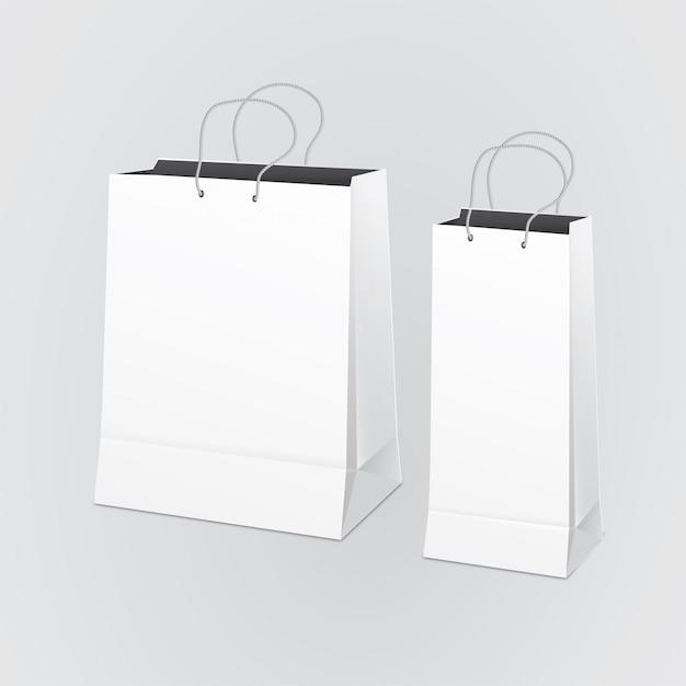 Leere Papiertüte Premium Vektoren