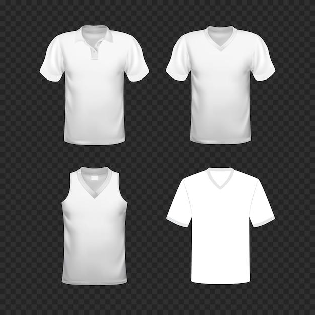 Leere t-shirt-vorlage Premium Vektoren