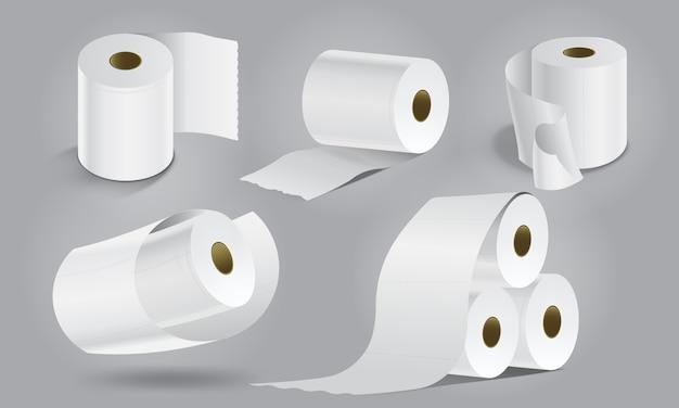 Leere toilettenpapiere Premium Vektoren