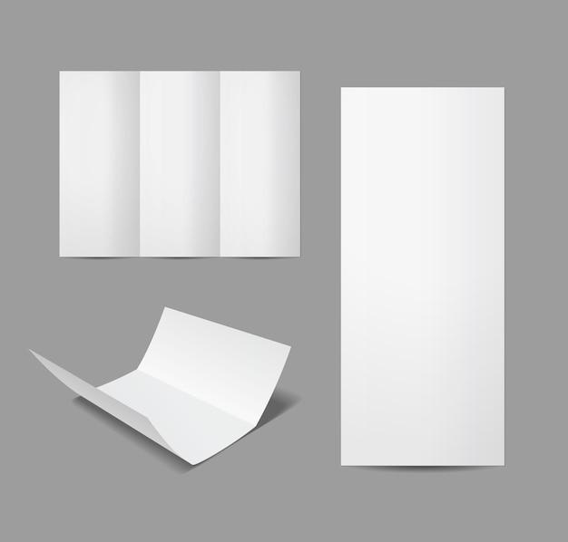 Leere vektorbroschüre auf weiß isoliert Premium Vektoren