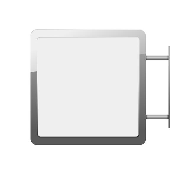 Leere werbetafeln und außenwerbevorlagen. lightbox-modell in. Premium Vektoren