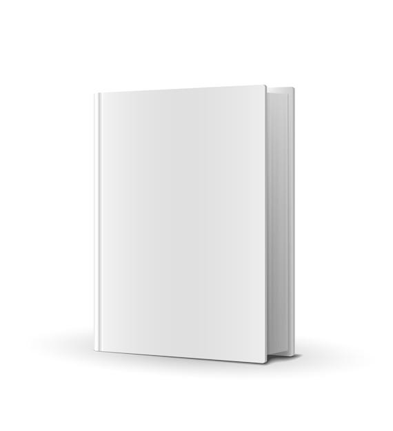 Leerer buchumschlag über weißer vektorillustration Kostenlosen Vektoren