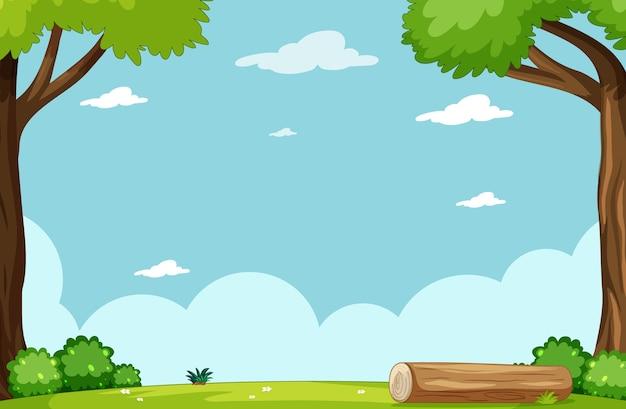 Leerer himmel in der naturszene im park Kostenlosen Vektoren