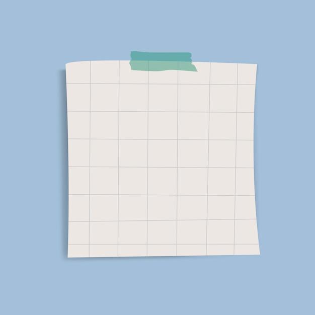 Leerer quadratischer rasterfeldanzeigen-anmerkungsvektor Kostenlosen Vektoren