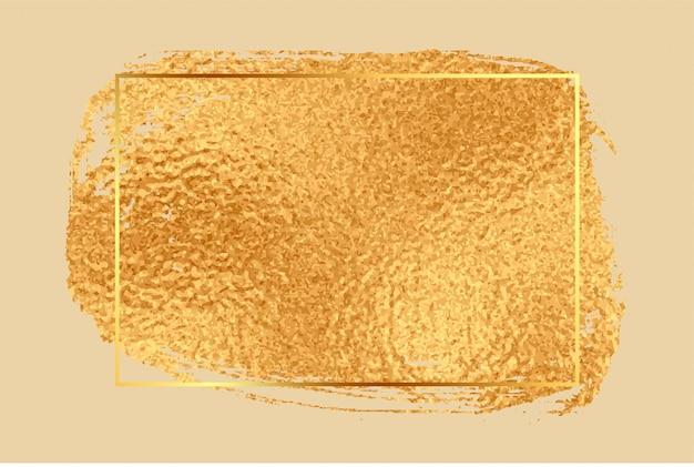 Leerer rahmenhintergrund der glänzenden goldenen folienbeschaffenheit Kostenlosen Vektoren