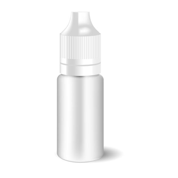 Leerer weißer vape flüssiger tropfflaschenverschluss. Premium Vektoren