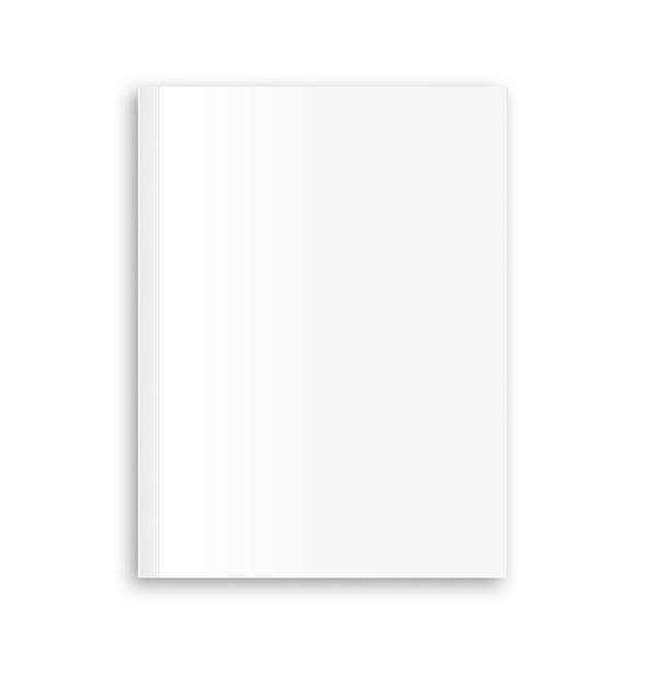 Leerer zeitschriftenplan auf weißem hintergrund. Premium Vektoren