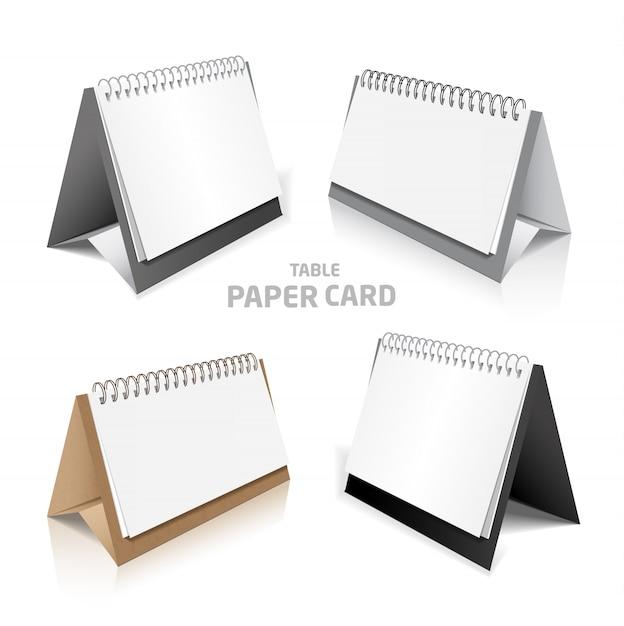 Leeres kalenderdesign lokalisiert auf weißem modellsatz 3d Premium Vektoren