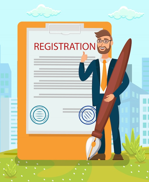 Legal document stamping Premium Vektoren