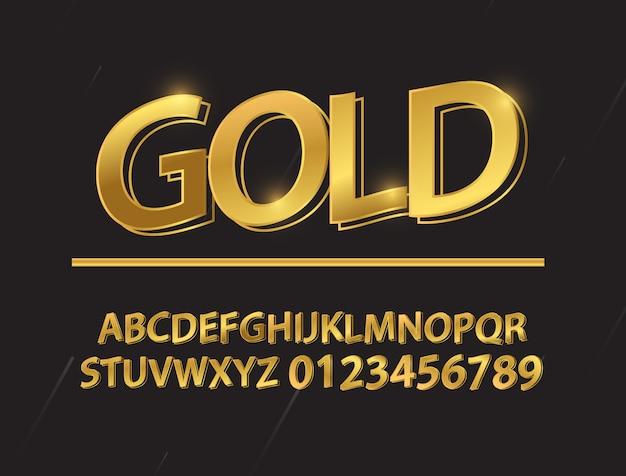 Legen sie die zusammensetzung der goldschriftform fest. Premium Vektoren