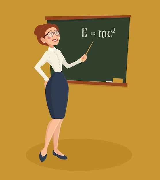 Lehrer frau illustration Kostenlosen Vektoren