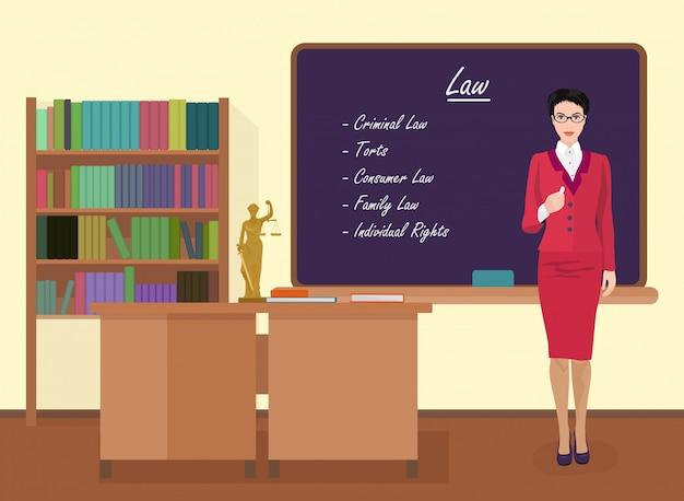 Lehrerin im schulrecht Premium Vektoren