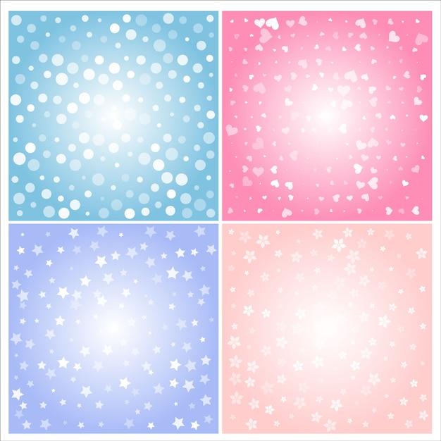 Leichte art und farbe des abstrakten lichtes des hintergrundes. Premium Vektoren