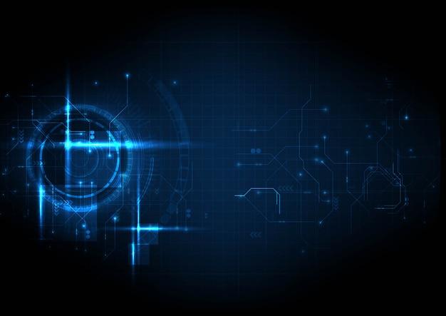 Leichte futuristische digitale schaltungstechnologie Premium Vektoren