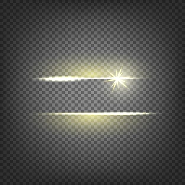 Lens flare lichteffekt Kostenlosen Vektoren