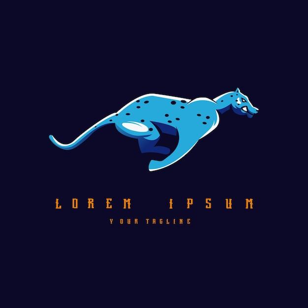 Leopard logo design Premium Vektoren