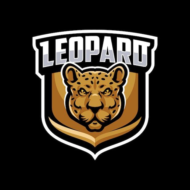Leopard-maskottchen-logo-sport. Premium Vektoren