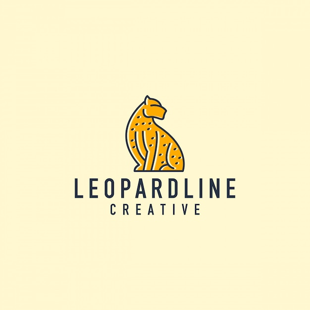 Leopard-umriss-logo Premium Vektoren