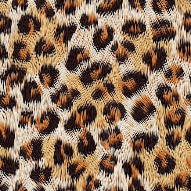 Leopardenfelldruck Premium Vektoren
