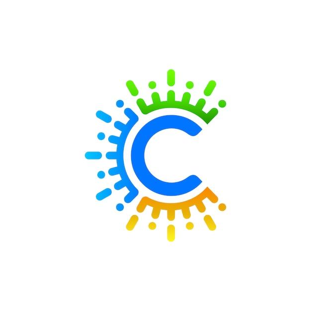 Lettec c logo design Premium Vektoren