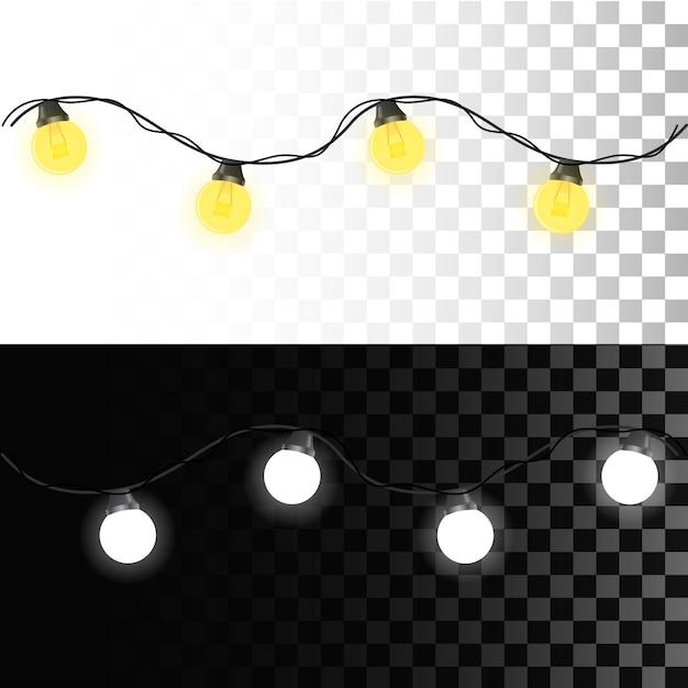 Leuchtende lichter für weihnachten Premium Vektoren