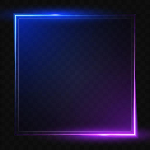 Leuchtende quadratische linie. Premium Vektoren