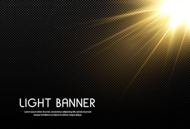 Leuchtender goldener stern isoliert Premium Vektoren