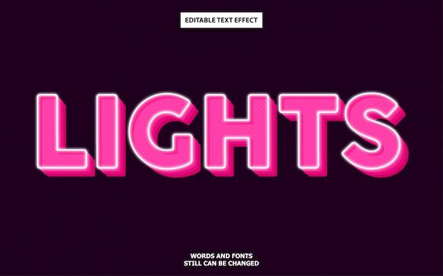 Leuchtet den bearbeitbaren texteffekt Premium Vektoren