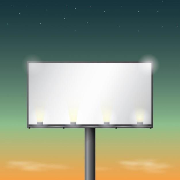 Leuchttafeln design Kostenlosen Vektoren