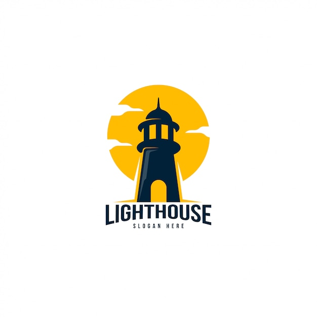 Leuchtturm-logo-vorlage Premium Vektoren