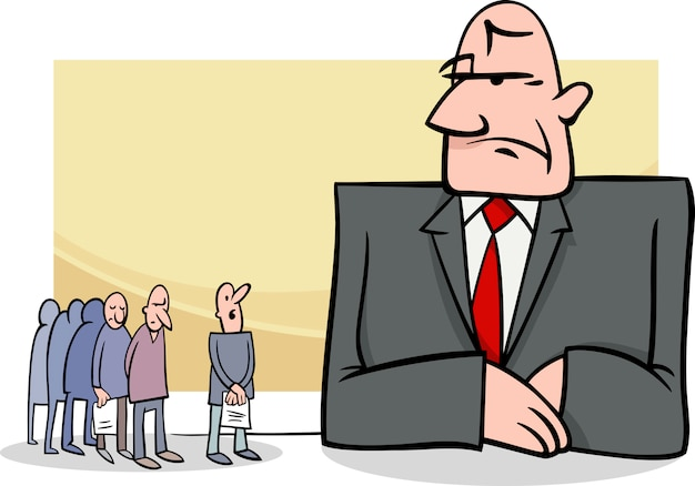 Leute an der bankkarikaturillustration Premium Vektoren