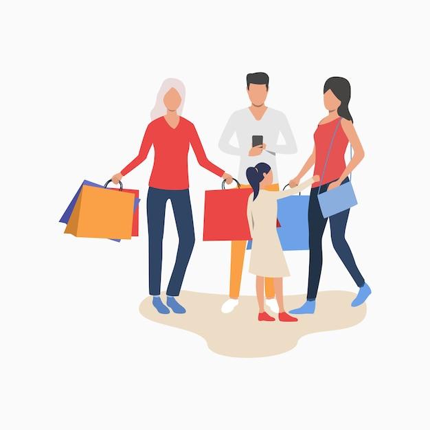 Leute, die einkaufen Kostenlosen Vektoren