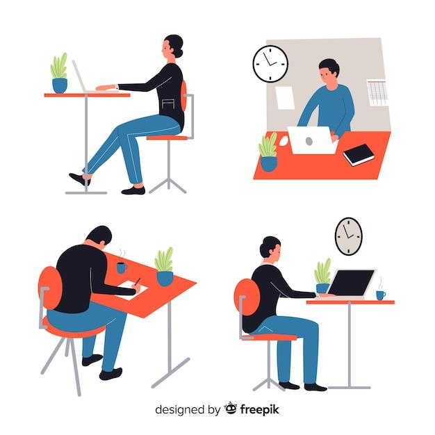 Leute, die im büro arbeiten Kostenlosen Vektoren