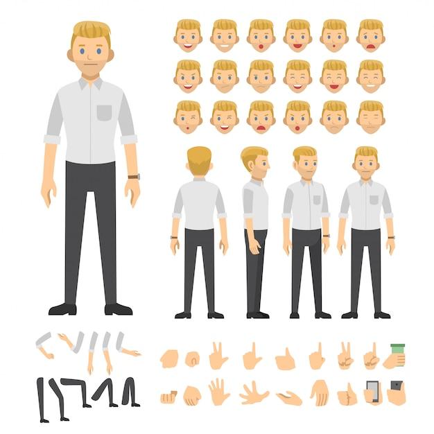 Leute, die vektorikonen-illustrationszeichen bearbeiten Premium Vektoren