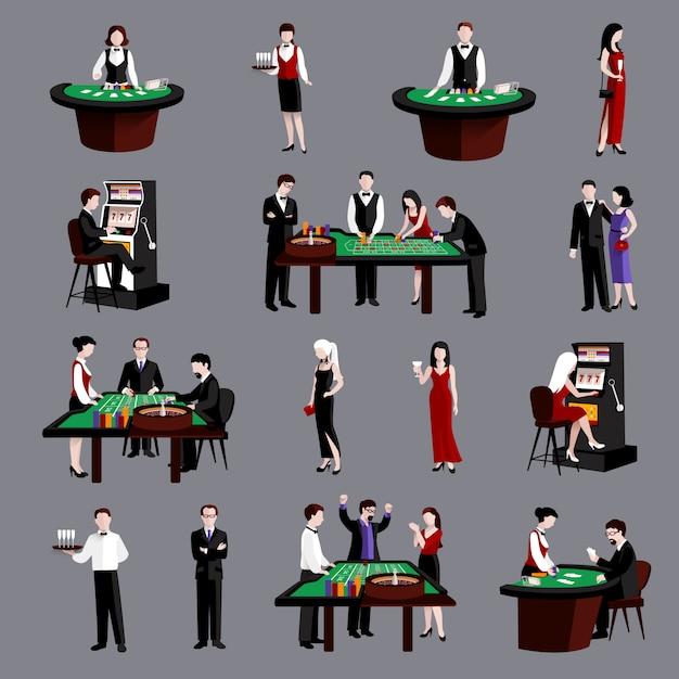 Leute im kasino Kostenlosen Vektoren