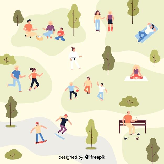 Leute im park Kostenlosen Vektoren