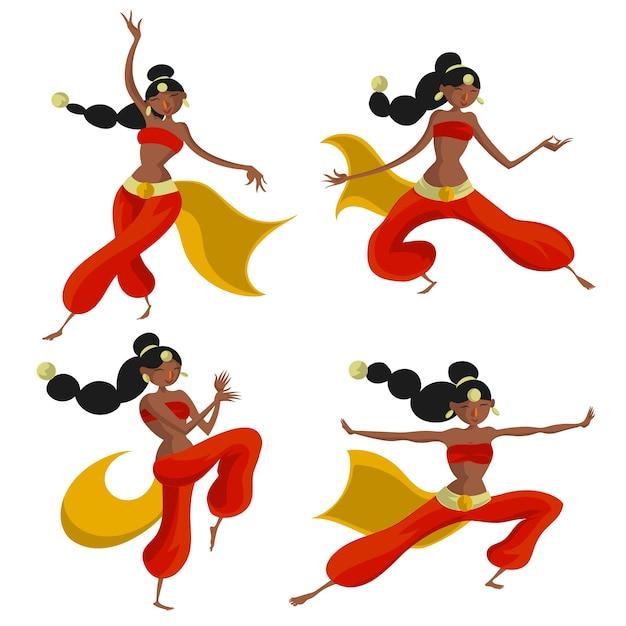 Leute tanzen bollywood Premium Vektoren