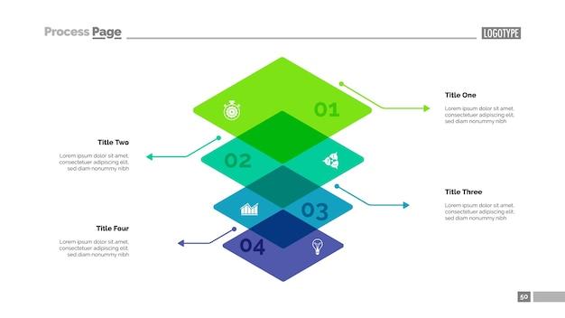 Level-diagramm mit vier elementen Kostenlosen Vektoren