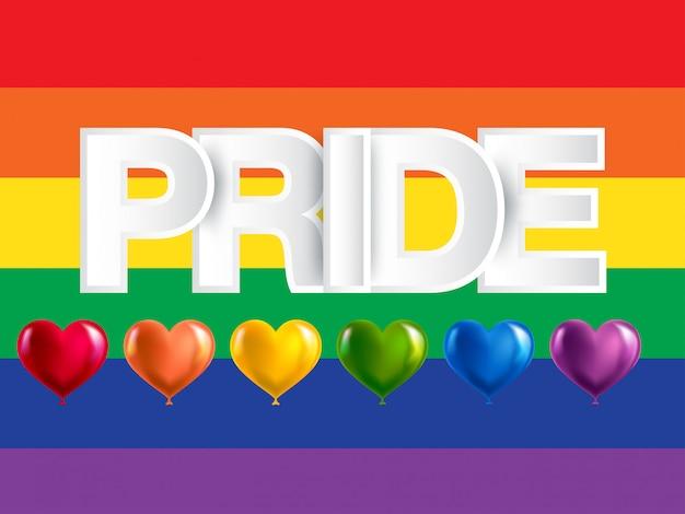 Lgbt, schwule und lesbische stolzregenbogenfahne Premium Vektoren