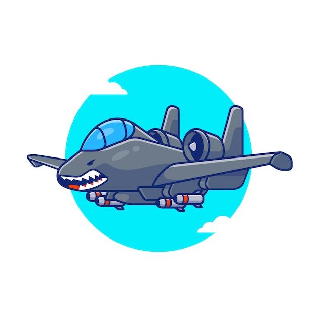 Libelle jet flying cartoon icon illustration. air transportasion icon konzept isoliert premium. flacher cartoon-stil Premium Vektoren