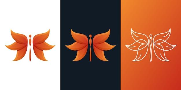 Libellen-logo Premium Vektoren