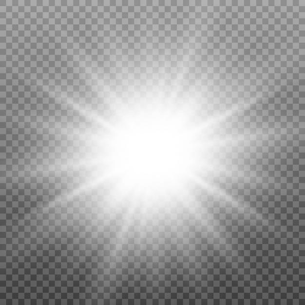 Lichteffekt. stern, schein, sonnenlicht. Premium Vektoren