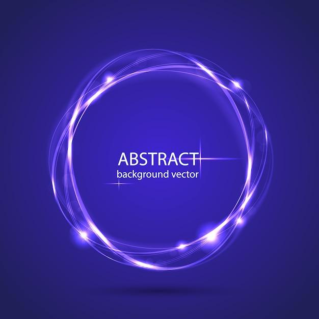 Lichteffekthintergrund der abstrakten blauen bewegung des vektors Premium Vektoren