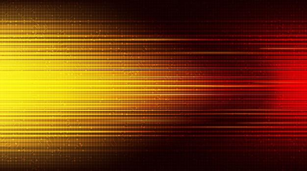 Lichtgeschwindigkeit rot technologie hintergrund; zukunft und netzwerk Premium Vektoren