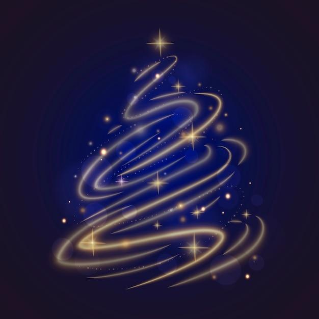Lichtspur-weihnachtsbaum Kostenlosen Vektoren